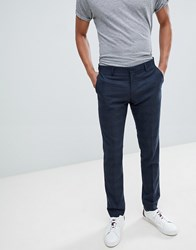 Selected Homme Skinny Suit Trouser In Navy Check With Stretch 2441 Navy Check
