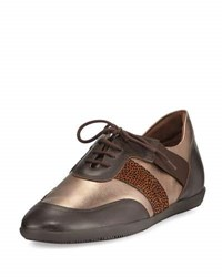 Sesto Meucci Helga Athleisure Leather Oxford Brown Metallic