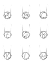 Kc Designs 14K White Gold Diamond Initial Necklace A