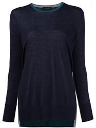 Rag And Bone Two Tone Sweater Black