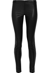Alice Olivia Leather Leggings Black