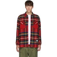We11done Red English Check Shirt