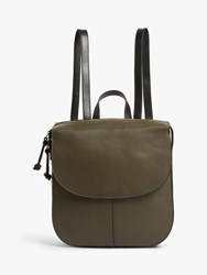 And Or Campeche Leather Backpack Olive