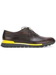 Berluti Hybrid Lace Up Shoes Brown