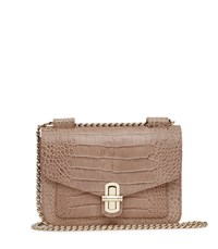 Reiss Elliott Snake Effect Mini Bag In Neutral