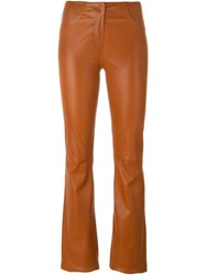 Jitrois Flared Trousers Brown
