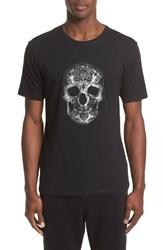 The Kooples Men's Embroidered Skull Graphic T Shirt