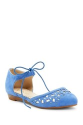 Restricted Level Up Pointed Toe D'orsay Flat Blue