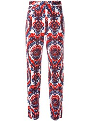 Fendi Vintage Paisley Printed Trousers White