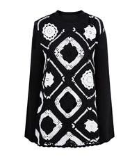 Mcq By Alexander Mcqueen Crochet Bell Sleeve Sweater Dress Female Black