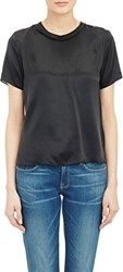 Boy By Band Of Outsiders Satin Ringer T Shirt Black Size 0 0 Us