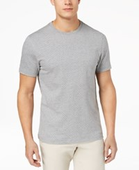 Club Room Men's Square Jacquard T Shirt Created For Macy's Light Grey Heather