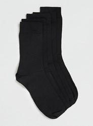 Black Topman Branded 5 Pack Socks