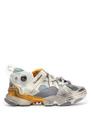 Vetements X Reebok Genetically Modified Trainers Grey Multi