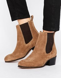 Selected Femme London Suede Boot Sand Beige
