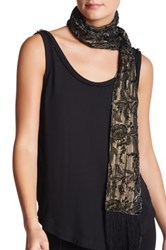 Collection Xiix Metallic Velvet Scarf Black