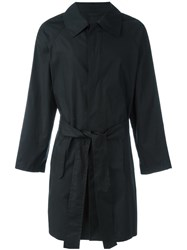 Ann Demeulemeester Grise Belted Raincoat Black