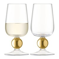 Lsa International Oro White Wine Glass Set Of 2 Matt Gold