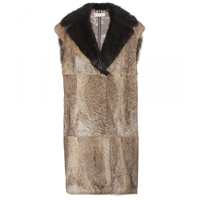 Marni Fur Vest Light Camel