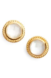 Anna Beck Women's Stone Stud Earrings White Mother Of Pearl