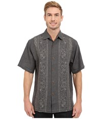 Tommy Bahama Hana Rue Linen Camp Shirt Black Men's Clothing