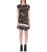 Allsaints Roka Silk Dress Black