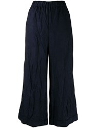 Daniela Gregis Crinkled Wide Leg Trousers Blue