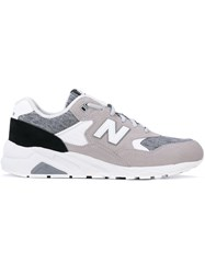 New Balance 580 Deconstructed Leather Sneakers Men Suede Polyamide Rubber 7 Grey