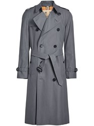 Burberry The Long Chelsea Heritage Trench Coat Grey