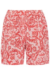 Day Birger Et Mikkelsen Fresco Printed Jersey Shorts Orange