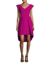 La Petite Robe Di Chiara Boni Lione Pleated Jersey Cocktail Dress Pink Cyclamen