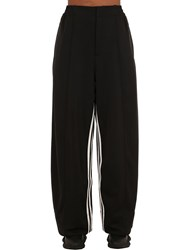 Y 3 Stripes Wide Leg Techno Pants Black