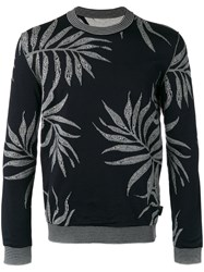 Ballantyne Intarsia Leaf Jumper Men Cotton Viscose 52 Black