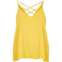 River Island Womens Yellow Strappy Cami