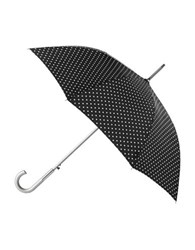 Totes Signature Auto Open Stick Umbrella Black White