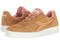 Diadora B.Elite Suede Doe Peach Pearl Athletic Shoes Yellow