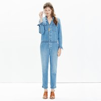 Madewell Denim Riveter Coverall Jumpsuit
