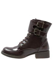 Blowfish Kami Laceup Boots Oxblood Bordeaux
