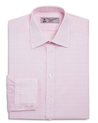 Turnbull And Asser Multi Grid Classic Fit Dress Shirt Pink