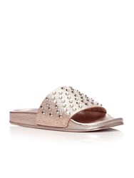 Moda In Pelle Orlan Flat Casual Sandals Rose Gold