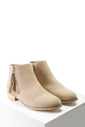 Forever 21 Faux Suede Chukka Boots Beige