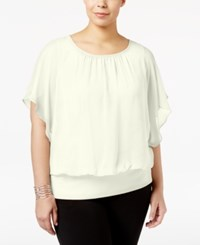 Jm Collection Plus Size Butterfly Sleeve Top Only At Macy's Vintage Cream