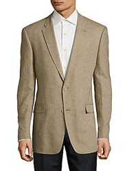 Tommy Hilfiger Slim Fit Cotton And Linen Sportcoat Khaki