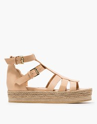 Rodebjer Leather Sandal In Sand
