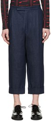 J.W.Anderson Blue Wide Leg Denim Trousers