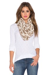 Michael Stars Big Cat Eternity Scarf Taupe