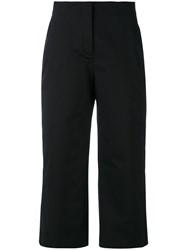 Versace Cropped Trousers Women Cotton Spandex Elastane 40 Black