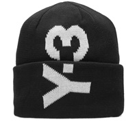 Y 3 Logo Beanie Black And Core White