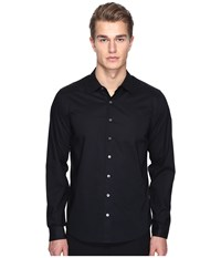 Atm Anthony Thomas Melillo Classic Dress Shirt Black Men's Long Sleeve Button Up