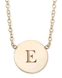 Zoe Chicco 14K Personalized Initial Engraved Disc Pendant Necklace Rose Gold